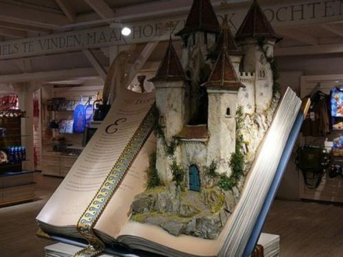 A fairy tale book display in a souvenir shop