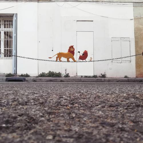 Lion King Street Art