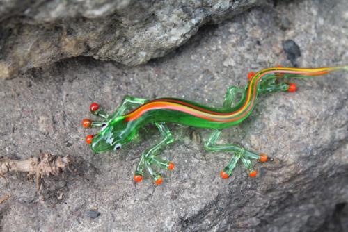 Lizard Glass Figurine