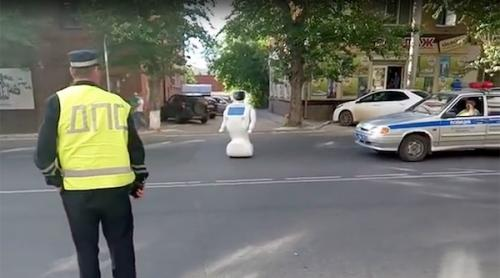 A robot escaped from a Russian research lab and blocked traffic