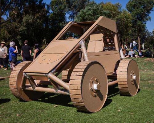 Cardboard Dune Buggy