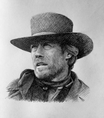Clint Eastwood Sketch